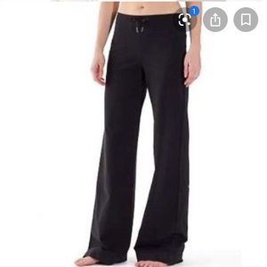 Lululemon wide leg trousers black